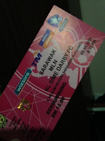 Admin meli tiket tok marek pesan ngan kawan. Mujur sempat. Perkhabaran dari Lea Sport Centre tiket berbumbung area 'B' dah sold out! Tinggal area 'A' jak lagik..